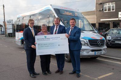 Chatterbus team with donators
